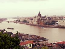 10/10/2013 Węgry Budapest centrum miasta Budapest Rzeczny Danube Fotografia Royalty Free