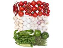 Węgry flaga kolory od jedzenia Obraz Stock