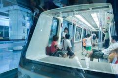 W Guangzhou metro linia APM Fotografia Royalty Free