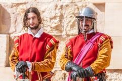 W Guardia paradzie przy St Jonh kawalerami w Birgu, Malta Zdjęcia Stock