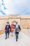 W Guardia paradzie przy St Jonh kawalerami w Birgu, Malta Fotografia Royalty Free