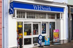 W H Smiths stationary newsagent. Tenby, Wales, UK, November 4, 2018 : W H Smiths stationary newsagent retail store in the High Street stock photography