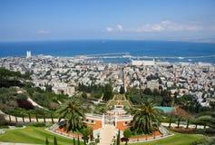 W Haifa Bahai ogródy, Izrael Zdjęcie Stock