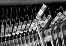 W hammers for writing with typewriter Stock Images