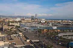 w Hiszpanii STYCZEŃ 02, 2016 - widok stary port Fotografia Stock