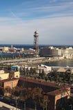 w Hiszpanii STYCZEŃ 02, 2016 - widok stary port bar Obraz Royalty Free