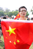 W Hong Kong Japonia anci Protesty Zdjęcie Stock
