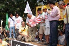 W Hong Kong Japonia anci Protesty Obraz Royalty Free