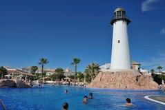 W hotelowym Riu pływacki basen Chiclana Zdjęcie Royalty Free