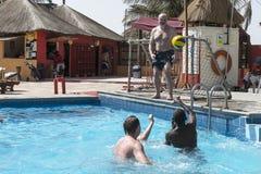 W hotelu pływacki basen Obrazy Royalty Free