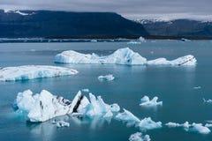 W Iceland glacjalna Jokulsarlon laguna Obraz Stock