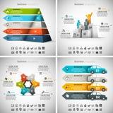 4 w 1 Infographics pliku ilustracji
