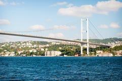 W Istanbuł Bosphorus pierwszy Most Zdjęcie Stock