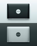 w izolacji ilustracyjni dwa laptopów white wektor Obraz Royalty Free