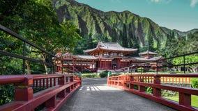 W japońskiej świątyni Obrazy Royalty Free