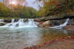 W jesień halny strumień Obraz Royalty Free
