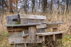 W jesień parkowa ławka Zdjęcie Stock