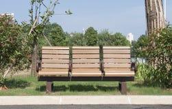 W jesień parkowa ławka Zdjęcia Royalty Free