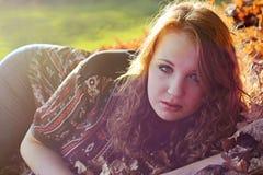 W jesiennym plecy świetle Fotografia Stock