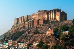 W Jodhpur Mehrangarh imponująco fort Fotografia Stock