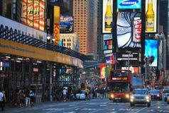 W Jork nowym mieście czas Kwadrat Zdjęcia Stock