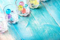 W kącie ramowi strzałów szkła pod ajerówką balony wypełniają w którym barwił obrazy royalty free