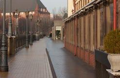 W Kaliningrad rybia wioska Zdjęcia Royalty Free