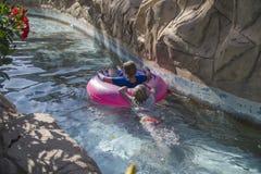 W kanale w aqua parku Obrazy Royalty Free