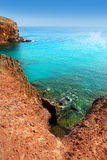 W Kanarkach Lanzarote Plaża El Papagayo Playa Fotografia Stock