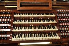 W Katedrze fajczany organ Zdjęcie Stock