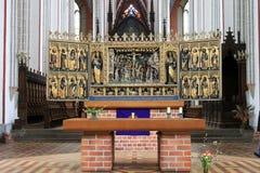 W katedrze Schwerin fotografia royalty free