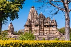 W Khajuraho Vishwanath Świątynia Obraz Royalty Free