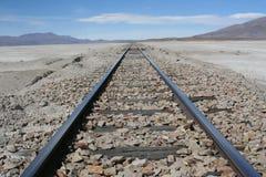 w kierunku nieskończoności linia kolejowa Obrazy Royalty Free