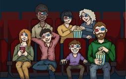 W kinie Obrazy Royalty Free