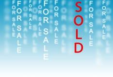 W końcu sprzedający Obraz Stock