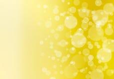 W kolor żółty bokeh abstrakcjonistyczny tło Obraz Stock