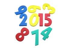 2015 w kolorowym na odosobnionym bielu Fotografia Stock