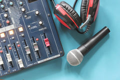 W kontrolnego pokoju audio systemu Obrazy Stock