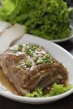 W Koreańskiej kuchni piec na grillu naczynia Obraz Royalty Free