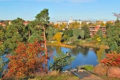 W Kotka parkowy Sapokka, Finlandia zdjęcia royalty free