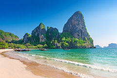 W Krabi Railay plaża Tajlandia Zdjęcia Stock