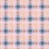 W kratkę bezszwowy wzór w brązu, menchii, błękita i brzoskwini kolorach, Fotografia Royalty Free