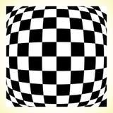 W kratkę deseniowa szachowa deska, checker deska z wykoślawieniem ilustracji