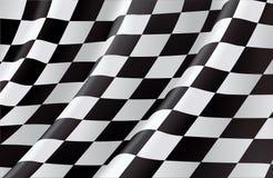 w kratkę flaga Zdjęcia Stock