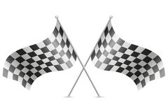 W kratkę flaga dla samochodowy ścigać się wektorowej ilustraci Obraz Royalty Free