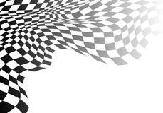 W kratkę flaga fala gradient na bielu dla sport rasy mistrzostwa biznesowego sukcesu wektoru tła ilustracji