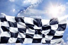 W kratkę flaga Obrazy Stock