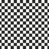 W kratkę geometryczny bezszwowy wzór z małym strzępiastym kwadratem kształtuje Abstrakcjonistyczna monochromatyczna czarny i biał royalty ilustracja
