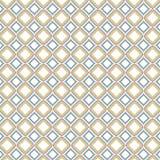 W kratkę Retro sześcian płytek kolor Zaokrąglający Obciosuje Geometrycznego wzór Fotografia Stock
