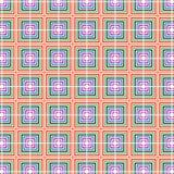 W kratkę Retro wystrzał sztuki kolor Obciosuje Geometrycznego wzór Fotografia Royalty Free